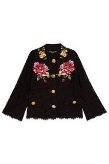 Кружевной жакет с вышивкой Dolce & Gabbana