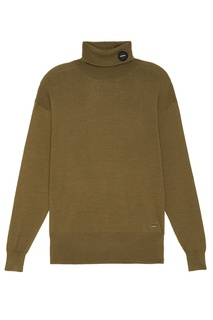 Удлиненный свитер цвета хаки Zasport