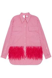 Хлопковая рубашка с перьями No.21