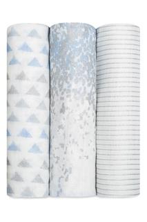 Бамбуковые пеленки с серо-голубым принтом Aden+Anais
