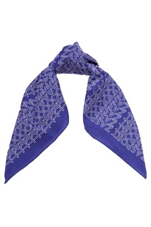 Голубой платок с логотипами Zasport