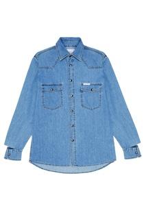 Джинсовая куртка с вышивкой на спине Forte Couture