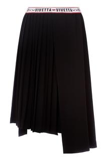 Черная юбка с плиссировкой Vivetta
