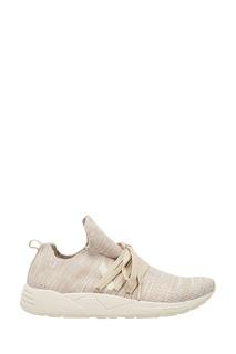 Бежевые кроссовки из джерси Arkk