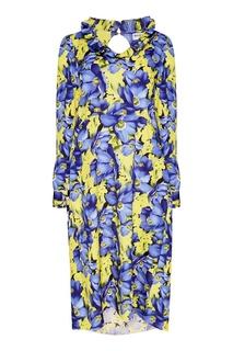 Платье с яркими цветами Balenciaga
