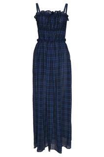 Синее платье в клетку Alexa Chung