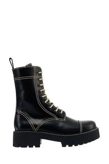 Черные кожаные ботинки Alexa Chung