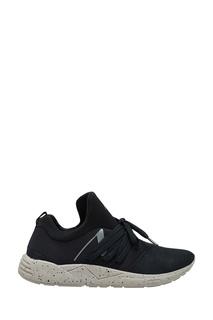 Черные текстильные кроссовки Arkk