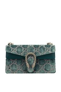 Бархатная сумка с монограммами Dionysus Gucci