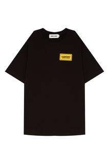 Черная футболка с нашивкой Rocket X Lunch