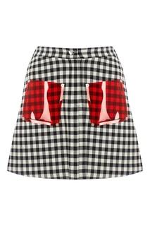 Короткая юбка в клетку Vivetta