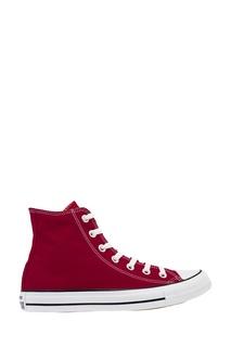 Высокие бордовые кеды из текстиля Converse