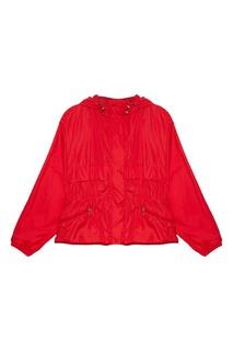 Красная ветровка с капюшоном Moncler