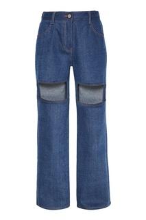 Широкие джинсы с прорезями Rocket X Lunch