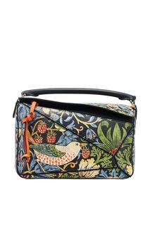 Кожаная сумка с принтом Puzzle Loewe