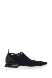 Черные текстильные кроссовки Moncler