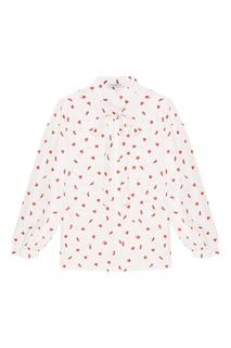 Шелковая блузка с принтом Vivetta