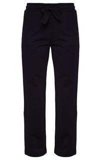 Синие трикотажные брюки Moncler