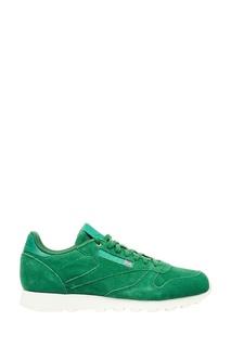Зеленые кроссовки CL LEATHER MCC Reebok