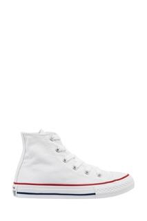 Белые кеды с высоким верхом Converse