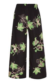 Хлопковые брюки с принтом Vivetta