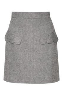 Серая мини-юбка с карманами T Skirt