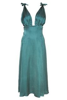 Зеленое платье в горох Alexa Chung