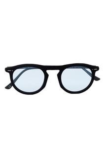 Черные очки с голубыми линзами Italia Independent