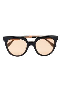 Черные очки с золотистыми линзами Italia Independent