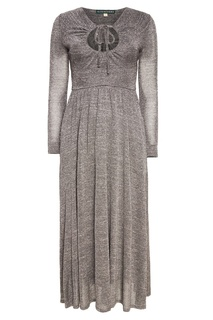 Серое платье с люрексом Alexa Chung