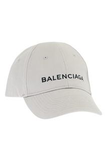 Серая кепка с логотипом Balenciaga