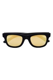 Черные очки с бархатной отделкой Italia Independent