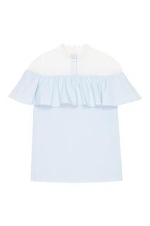 Голубая блузка с кружевом T Skirt