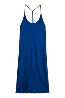 Синее платье на бретелях Alexander Wang