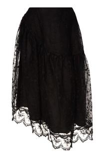 Асимметричная юбка с кружевом Simone Rocha