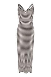 Трикотажное платье-макси в полоску Courreges