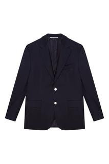Черный шерстяной пиджак Canali