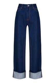 Прямые джинсы с отворотами Mm6 Maison Margiela