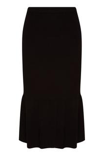 Черная юбка с крупными складками Knittedkiss