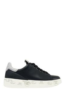 Черные кроссовки на платформе Premiata