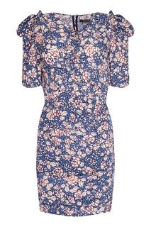 Шелковое платье с пышными рукавами Isabel Marant