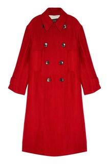 Красное двубортное пальто Isabel Marant