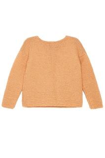 Бежевый oversize пуловер Knittedkiss
