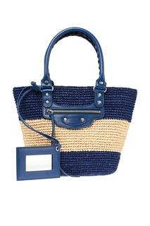 Плетеная сумка в полоску Balenciaga