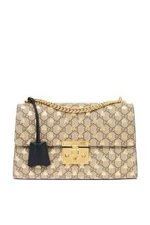 Сумка с вышивкой и монограммой Gucci