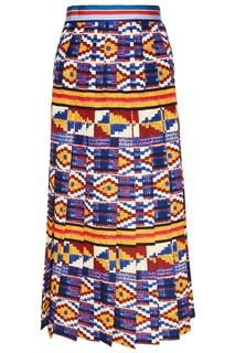 Плиссированная юбка с ярким орнаментом Stella Jean