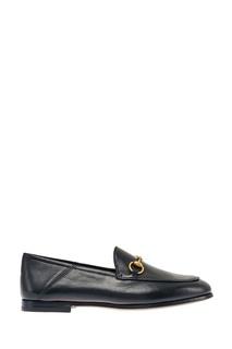 Черные лоферы с пряжкой Brixton Gucci