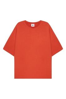 Оранжевая футболка из хлопка Daily Paper