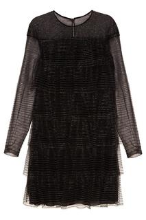 Блестящее платье-мини с воланами Valentino