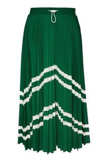 Плиссированная юбка с кружевом Valentino